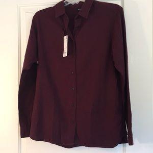 Uniqlo New Flannel Burgundy Button-down.